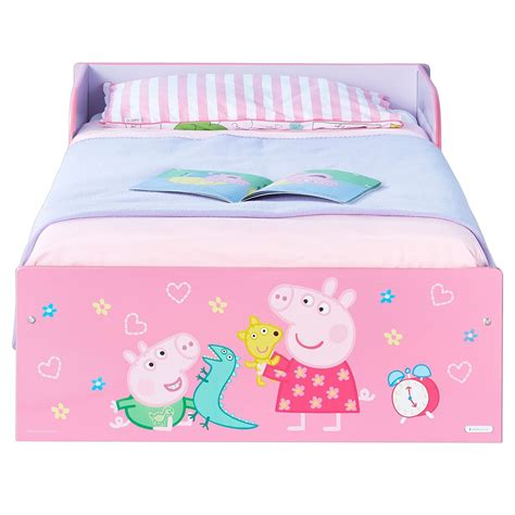 toddler bed with mattress included peppa pig toddler bed foam mattress included pink girls bed new official ebay