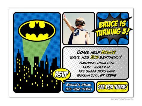 printable birthday invitations batman batman invitation diy personalized party printable 12