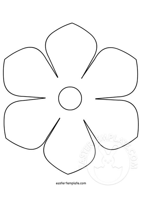 flower template paper flower template word doc download
