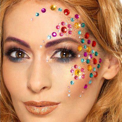 bijoux visage festival bijoux maquillage visage arc en ciel city