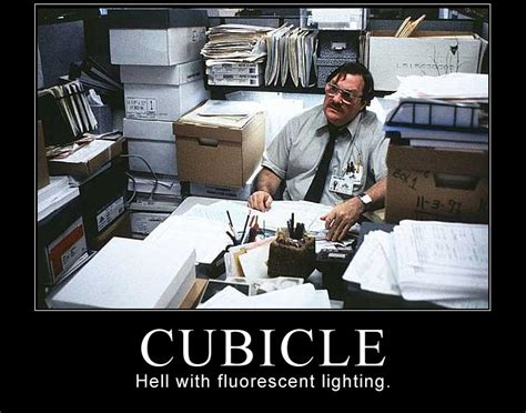 Cubicle Meme - welcome to the cube life