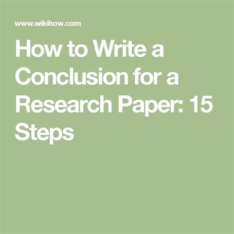 How To Make Conclusion In A Research Paper - 25 best ideas about research paper on junior