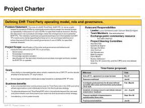 Project Charter Template Simple by Best Photos Of One Page Project Charter Project Charter
