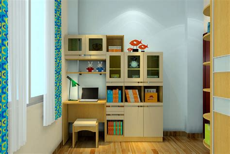 bedroom bookshelf 3d bedroom bookcase desk combo 3d house