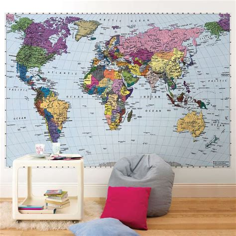 world map wall murals world map wall mural kiddie kreations