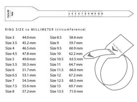 ring size ruler printable uk diy ring sizer ring size chart for men diy jewlry