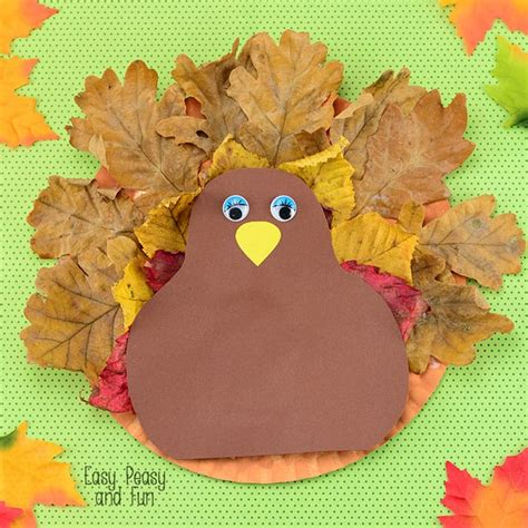 Turkey Paper Craft - paper plate turkey craft easy peasy and
