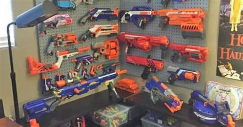 nerf gun armory   kiddos pinterest nerf guns  room