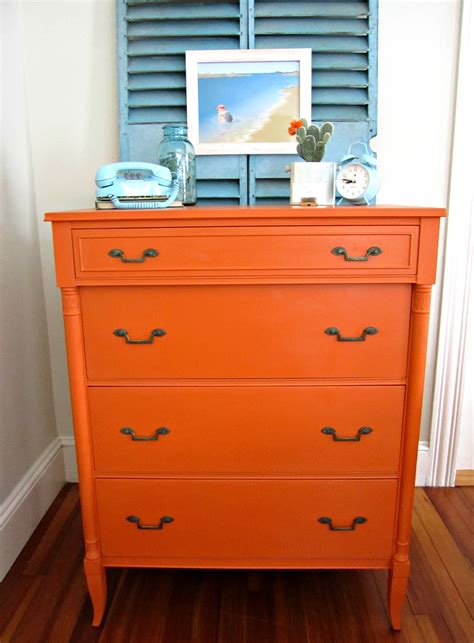 chalk paint by sloan painted dresser before after barcelona orange chalk