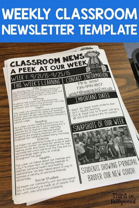 25 Best Ideas About Preschool Newsletter Templates On Pinterest Classroom Newsletter Template Communications Newsletter Template