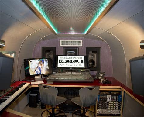 garage recording studio design airstream trailer recording broadcast teaching studio