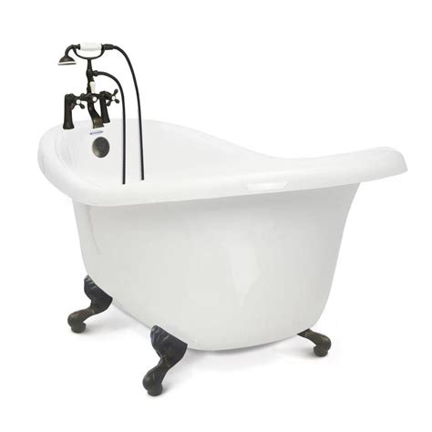 lowes bathtubs shop american bath factory chelsea white acrylic oval in