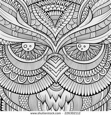 owl mandala coloring pages for adults decorative ornamental owl background vector illustration