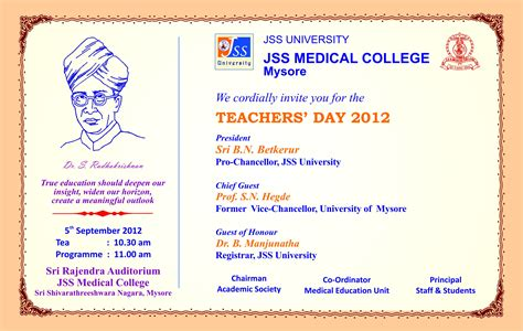 teachers day invitation card templates card invitation ideas free printable teachers day