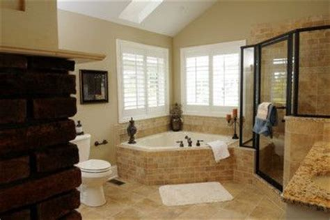 master bathroom corner tub  windows corner whirlpool