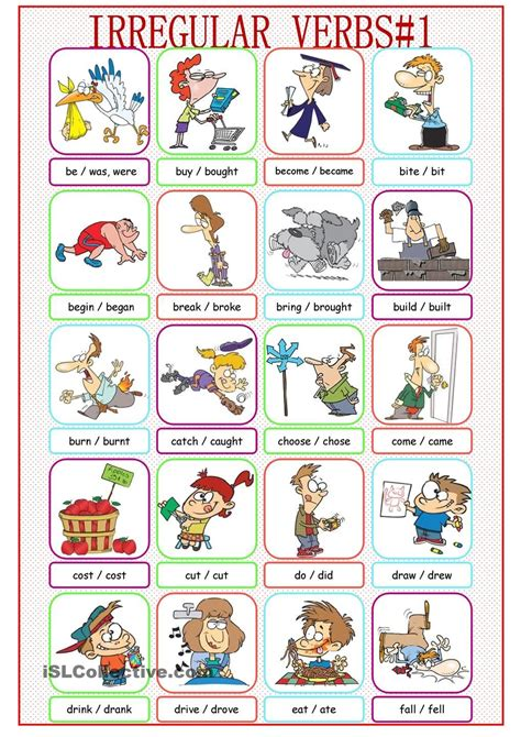 Simple Dictionary irregular verbs picture dictionary 1 ใหม