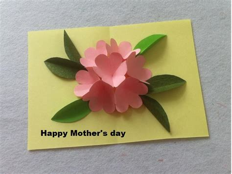 diy mother s day card diy beautiful pop up flower card diy mother s day card