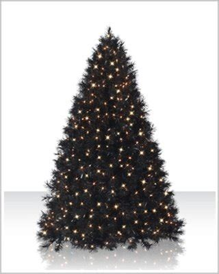 black christmas tree 6 ft with clear lights