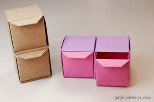 origami pull out drawers paper kawaii