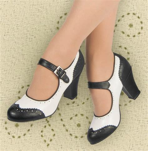 aris allen swing dance shoes aris allen black and white 1940s heeled wingtip mary jane