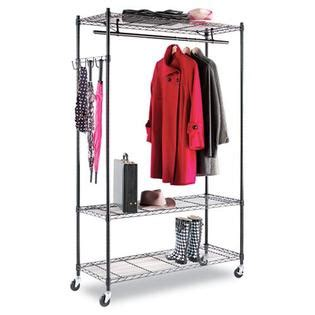 Kmart Clothes Rack by Wire Shelving Garment Rack Coat Rack Stand Alone Rack Black Steel W Casters Office