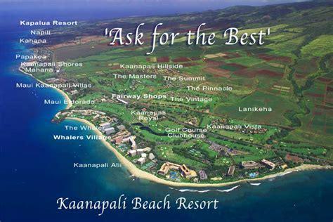 kaanapali resort map kaanapali