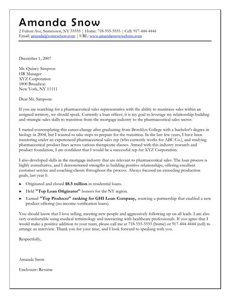 Career Change Cover Letter Template Images Examples