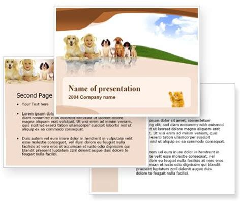 ready templates for presentation free pets powerpoint template with free pets powerpoint