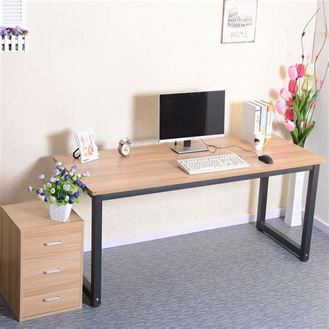 minimalist desktop table simple rounded computer desk long table conference desktop