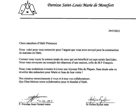 Exemple De Lettre De Remerciement Pour L Obtention D Une Bourse Lettre De Remerciement Ha 239 Ti Pr 233 Sences