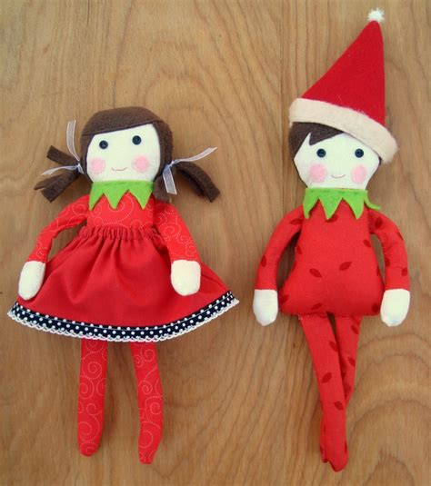 Handmade On The Shelf - free on the shelf doll pattern elves shelves and