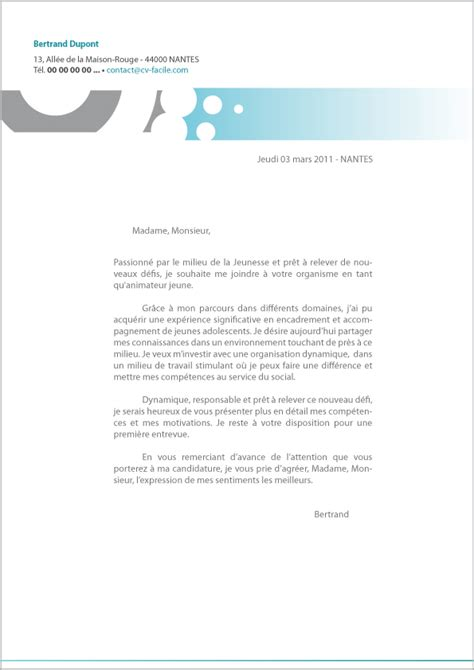 Exemple De Lettre Cv Exemple Cv Et Lettre De Motivation