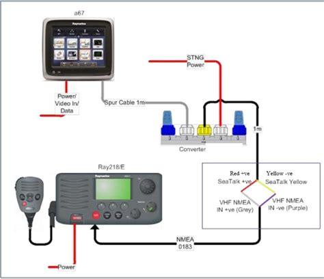 raymarine seatalk wiring diagram raymarine fluxgate