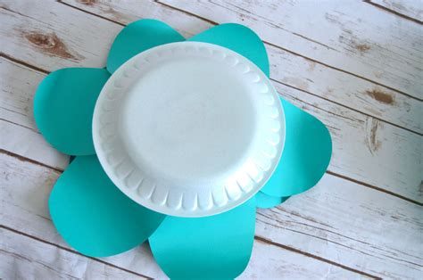 paper plate flower tutorial how to make huge paper flowers create and babble