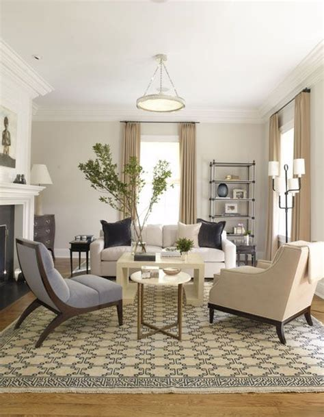 Light Beige Living Room by Light Beige Walls White Trim Blue Accents Living Room