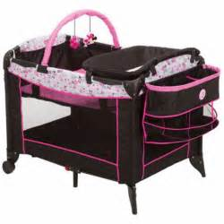 Playpen With Changing Table And Bassinet Playpen Baby Crib Portable Minnie Mouse Pink Bassinet Changing Table New What S It Worth