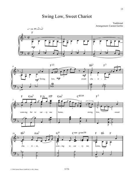 swing low sweet chariot analysis piano sheet music at stanton s sheet music