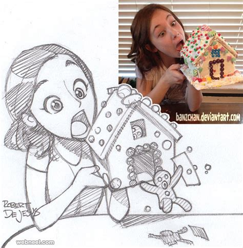 poto tato kartun 50 beautiful photo to cartoon drawings by robert dejesus