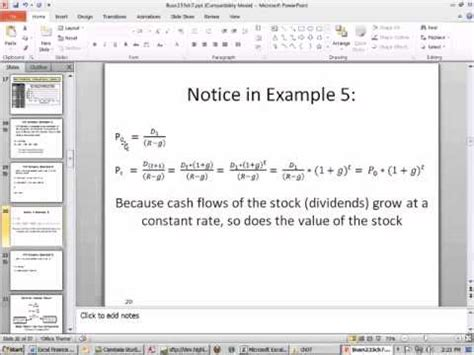 excel finance class 65 calculate stock price at time t