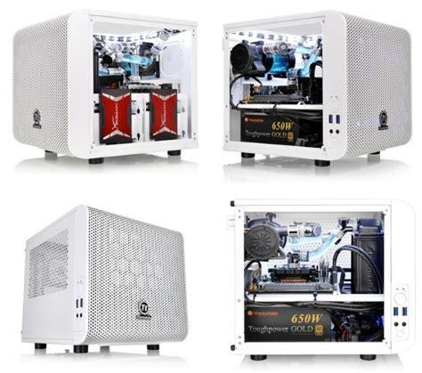 Thermaltake V1 Snow thermaltake v1 mini itx goes snow white