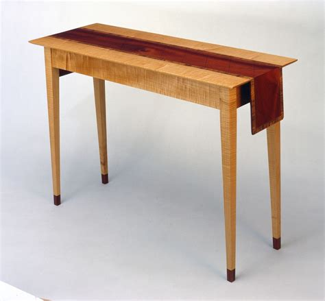 Hand Crafted Hallway Table With Wooden Table Cloth Runner