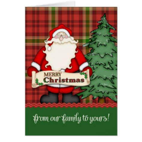 merry christmas   family   cards zazzle