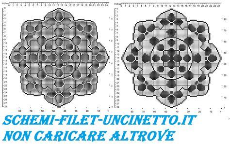 fiori uncinetto schema gratis centro rotondo petali schema filet uncinetto gratis