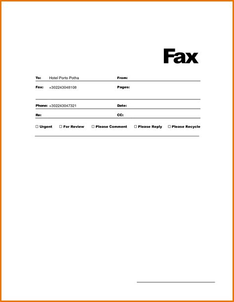 fax cover sheet template microsoft works cover letter