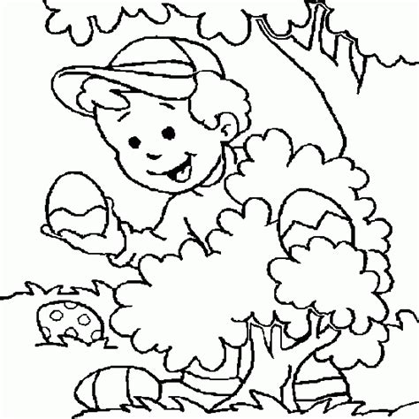 coloring pages easter egg hunt a coloring easter with a drawing of easter egg hunt