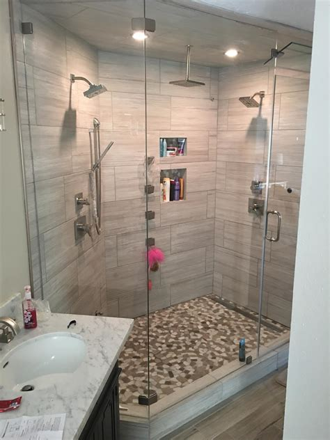 Shower And Jets by Houston Remodeling Contractors Contructs A New Shower With Jets And A Steamer