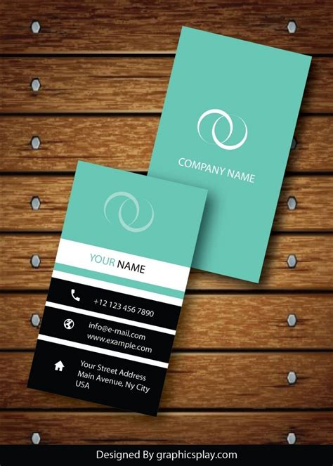 id card design eps vertical business card design vector template id 1736