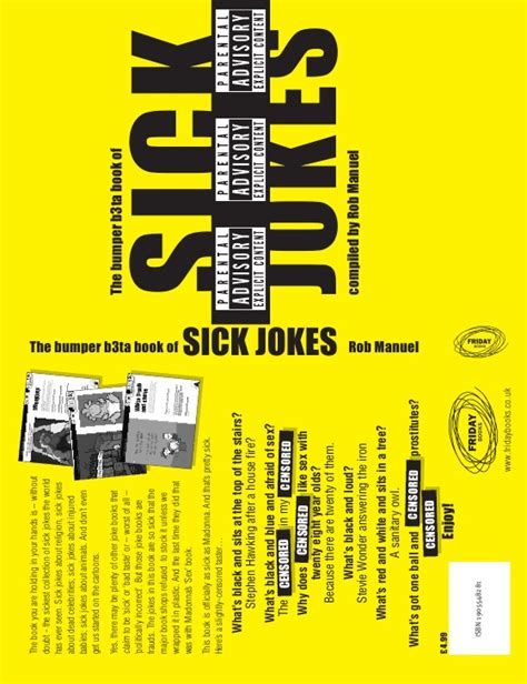 sick humor books b3tabumperbookofsickjokes