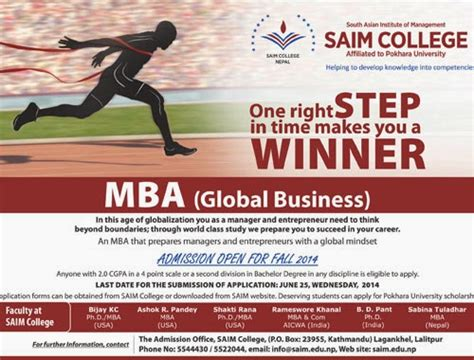 Colleges Offering Mba In International Business by Educatenepal