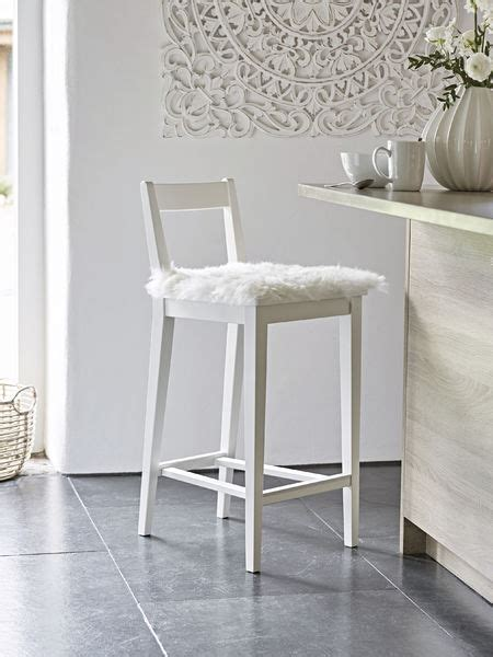 White Wooden Bar Stool White Wooden Bar Stool